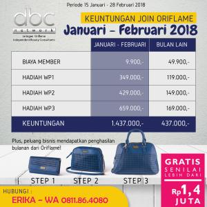 Keuntungan gabung di periode promo 15 Jan - 28 Feb 2018